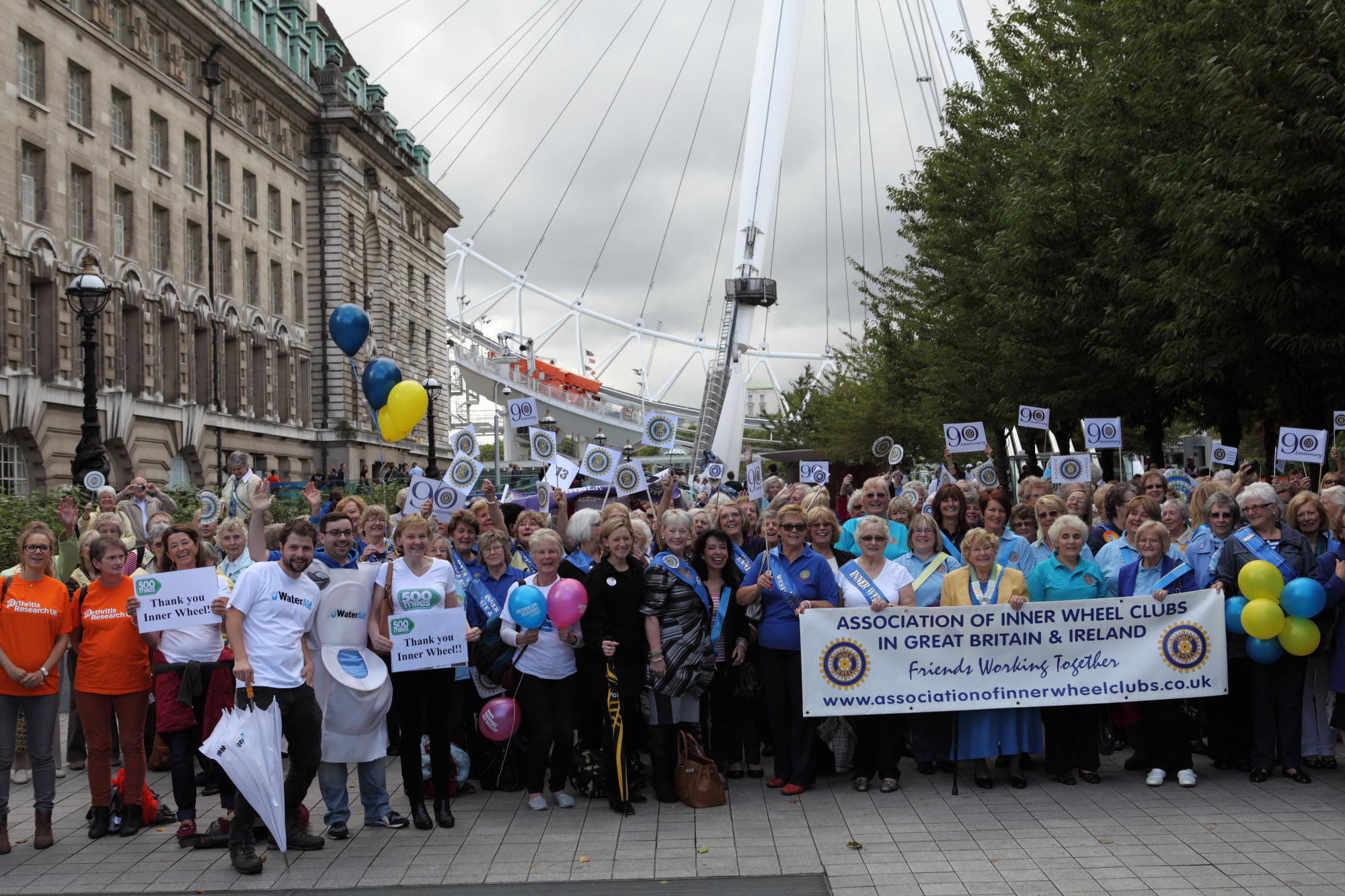 Inner Wheel celebrate their 90th Birthday at the London Eye, October 2013